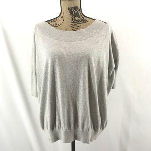 CAbi Gray Scoop Neck Lounge Sweater #200